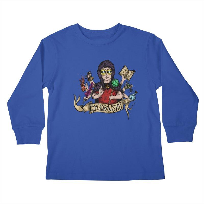 GM Knows All Kids Longsleeve T-Shirt by artbydebbielindsay's Artist Shop