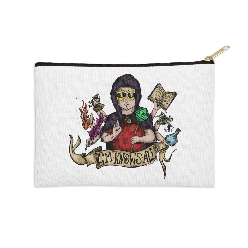 GM Knows All Accessories Zip Pouch by artbydebbielindsay's Artist Shop