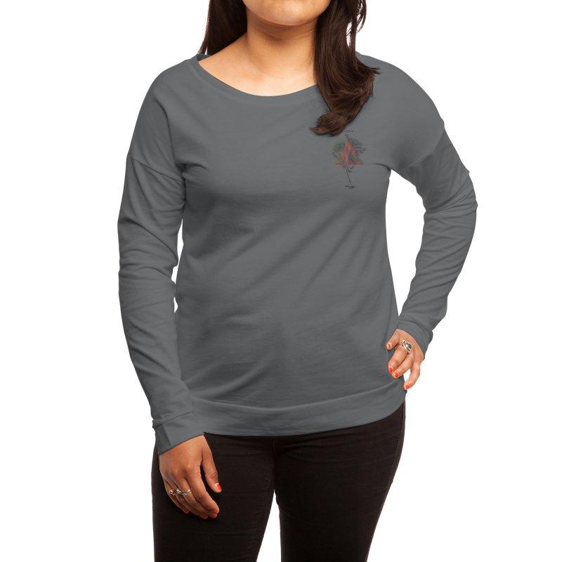 Red Flower Women's Longsleeve T-Shirt by artbyekta