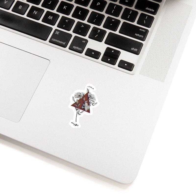 Red Flower Accessories Sticker by artbyekta
