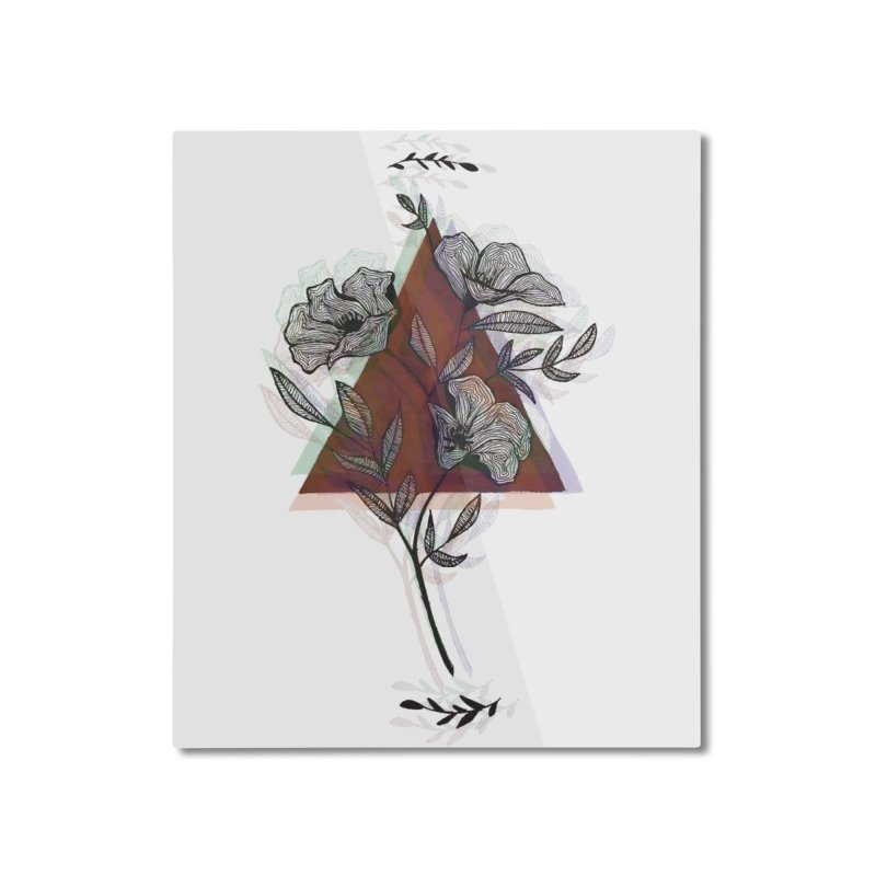 Red Flower Home Mounted Aluminum Print by artbyekta
