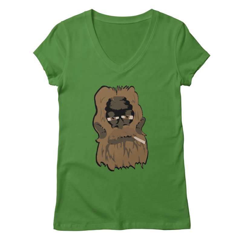 Smokey the Squatch Women's V-Neck by artbyfritz's Artist Shop