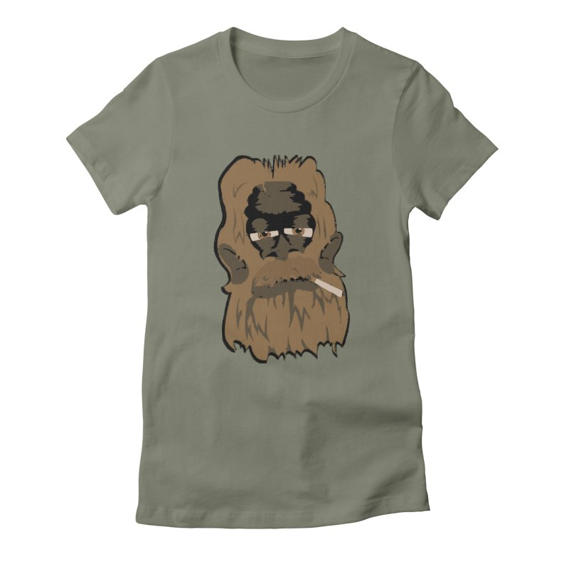 Smokey the Squatch Women's Fitted T-Shirt by artbyfritz's Artist Shop