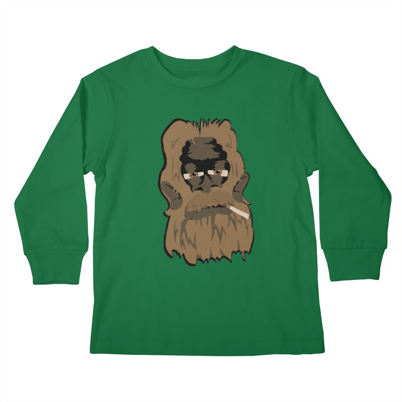 Smokey the Squatch Kids Longsleeve T-Shirt by artbyfritz's Artist Shop