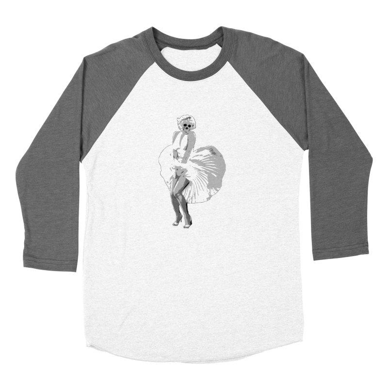 Marilyn Women's Baseball Triblend T-Shirt by artbyfritz's Artist Shop