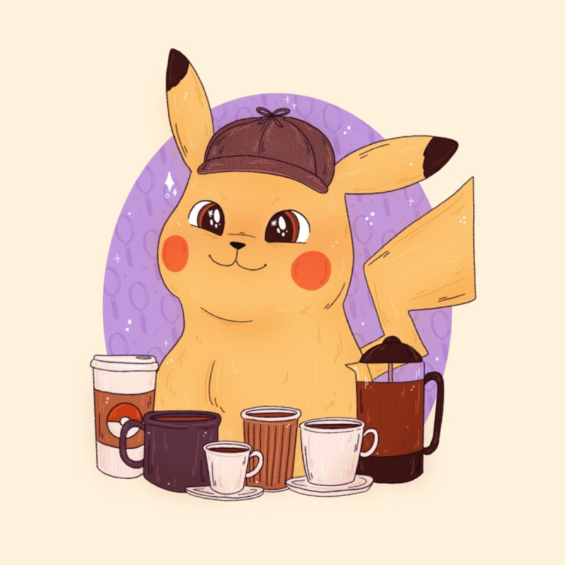 Detective Pikachu by ArtbyMoga Apparel Shop