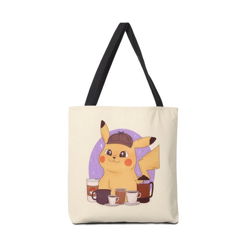 Detective Pikachu Accessories Tote Bag Bag by ArtbyMoga Apparel Shop