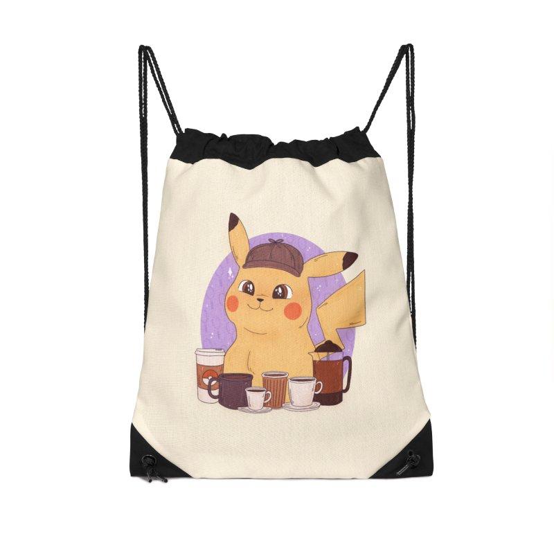 Detective Pikachu Accessories Drawstring Bag Bag by ArtbyMoga Apparel Shop