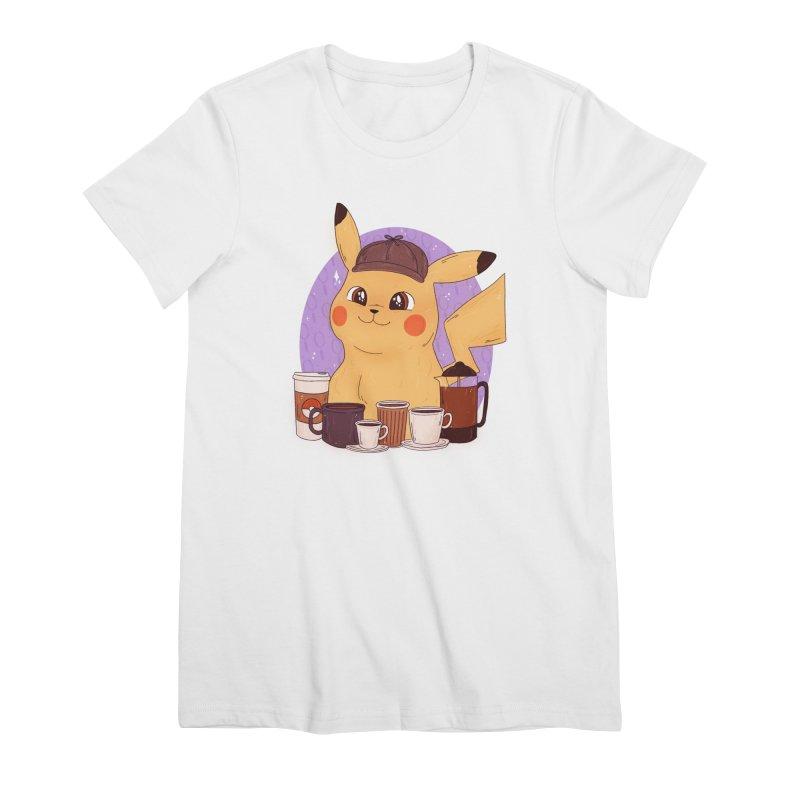 Detective Pikachu Women's Premium T-Shirt by ArtbyMoga Apparel Shop