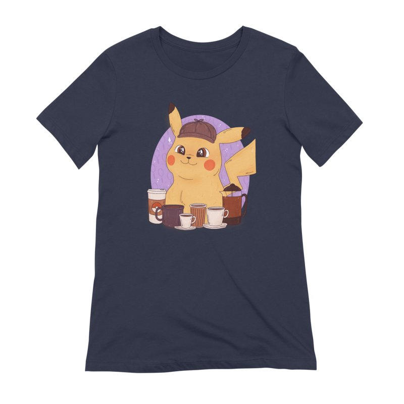 Detective Pikachu Women's Extra Soft T-Shirt by ArtbyMoga Apparel Shop