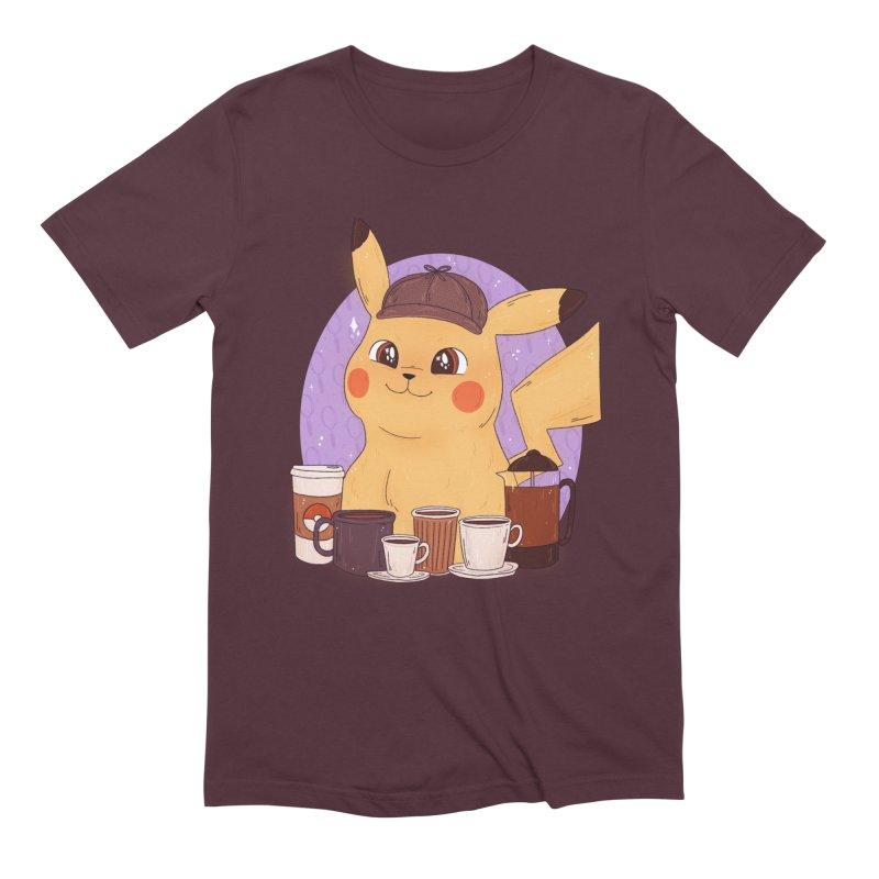 Detective Pikachu Men's Extra Soft T-Shirt by ArtbyMoga Apparel Shop