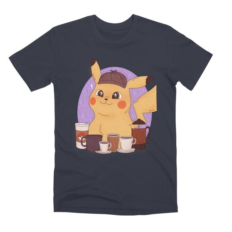 Detective Pikachu Men's Premium T-Shirt by ArtbyMoga Apparel Shop