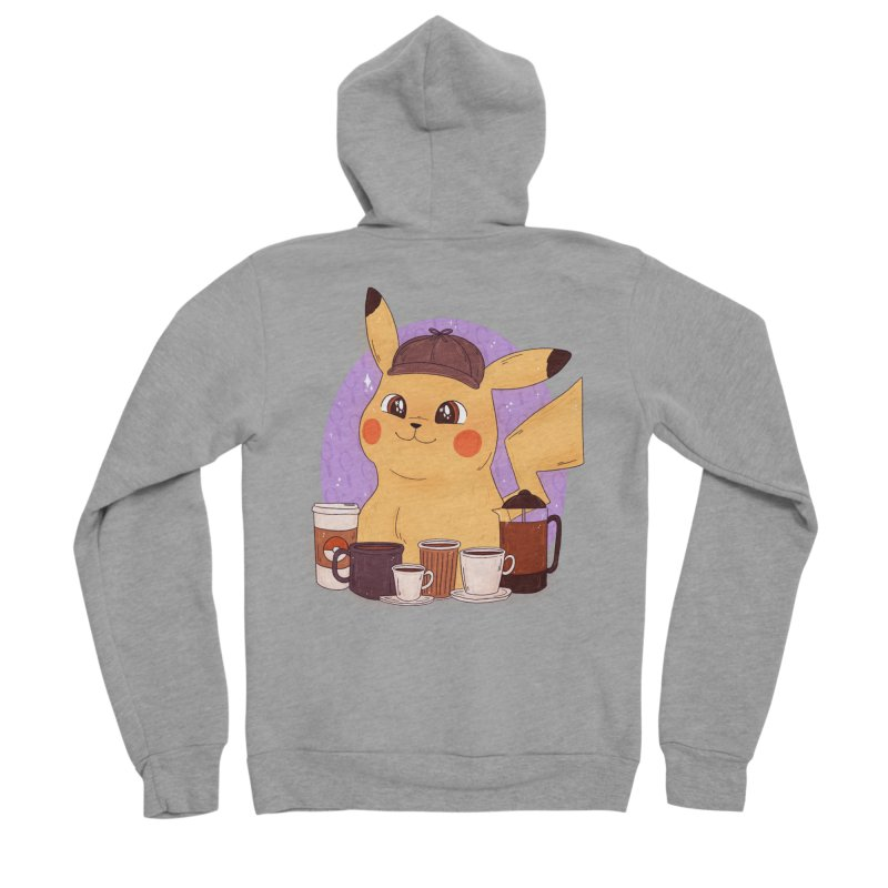 Detective Pikachu Women's Sponge Fleece Zip-Up Hoody by ArtbyMoga Apparel Shop