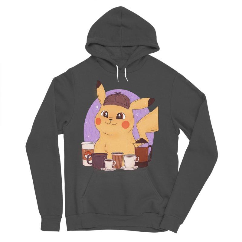 Detective Pikachu Women's Sponge Fleece Pullover Hoody by ArtbyMoga Apparel Shop