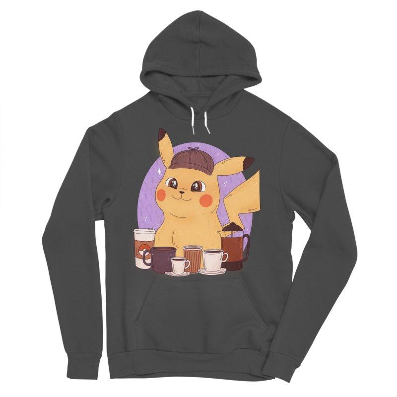 Detective Pikachu Men's Sponge Fleece Pullover Hoody by ArtbyMoga Apparel Shop
