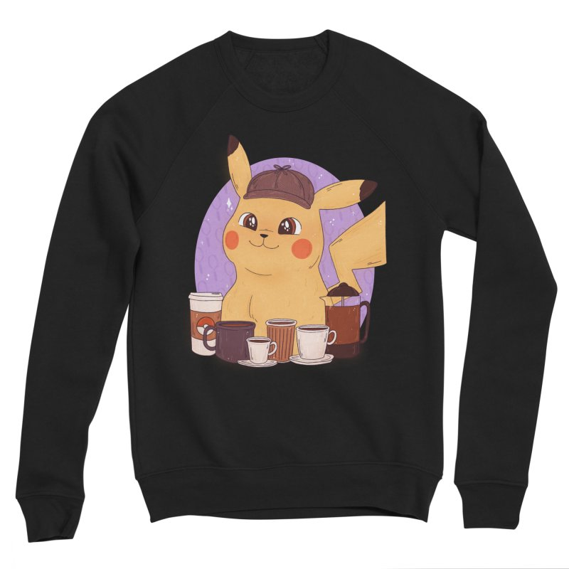 Detective Pikachu Men's Sponge Fleece Sweatshirt by ArtbyMoga Apparel Shop