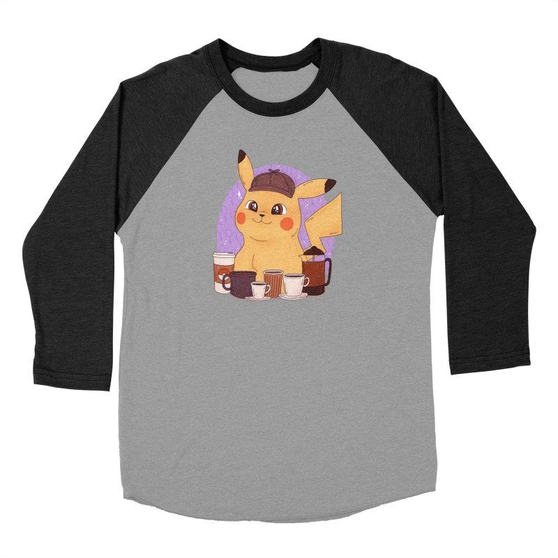 Detective Pikachu Men's Baseball Triblend Longsleeve T-Shirt by ArtbyMoga Apparel Shop