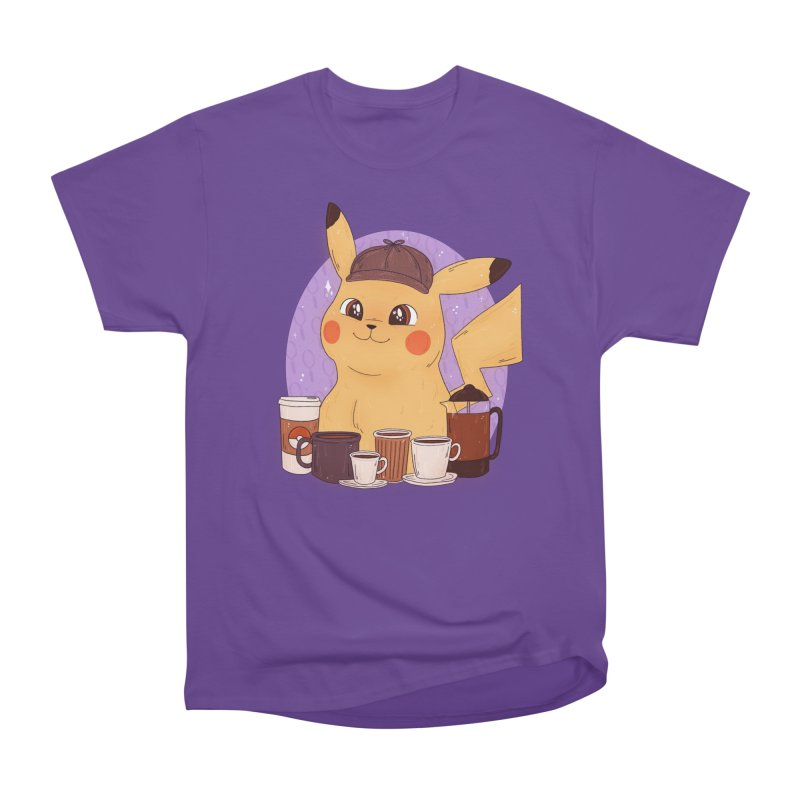 Detective Pikachu Women's Heavyweight Unisex T-Shirt by ArtbyMoga Apparel Shop