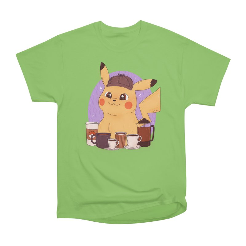 Detective Pikachu Men's Heavyweight T-Shirt by ArtbyMoga Apparel Shop
