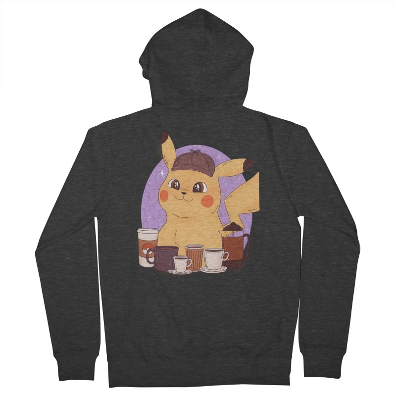 Detective Pikachu Women's French Terry Zip-Up Hoody by ArtbyMoga Apparel Shop