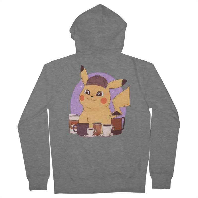 Detective Pikachu Men's French Terry Zip-Up Hoody by ArtbyMoga Apparel Shop