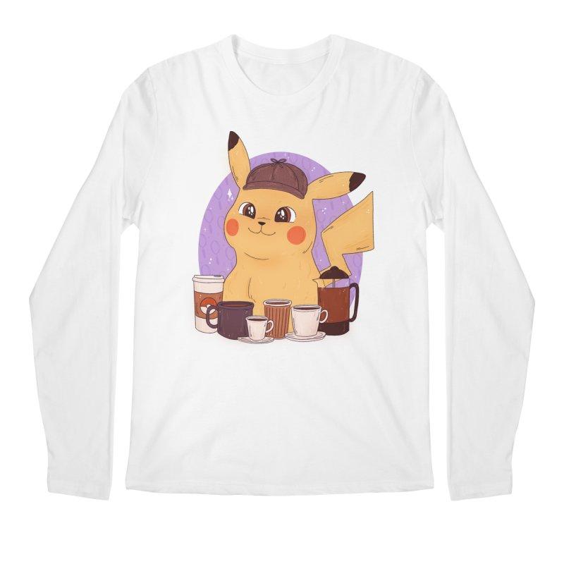 Detective Pikachu Men's Regular Longsleeve T-Shirt by ArtbyMoga Apparel Shop