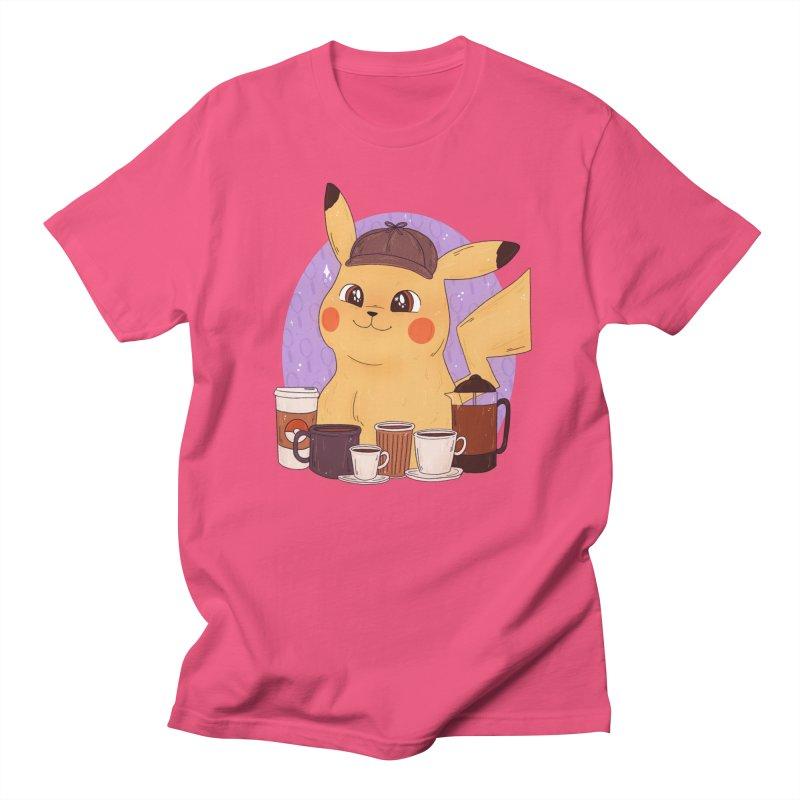 Detective Pikachu Men's Regular T-Shirt by ArtbyMoga Apparel Shop