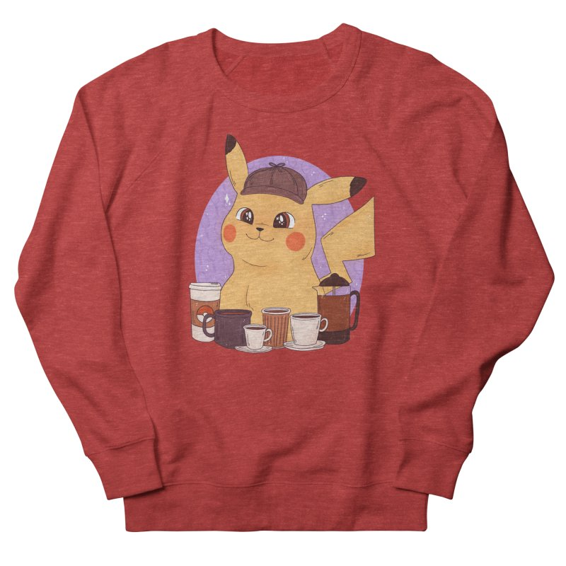 Detective Pikachu Women's French Terry Sweatshirt by ArtbyMoga Apparel Shop