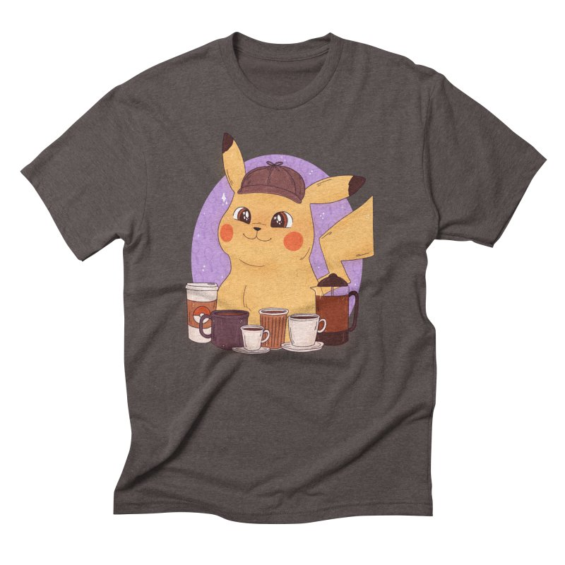 Detective Pikachu Men's Triblend T-Shirt by ArtbyMoga Apparel Shop