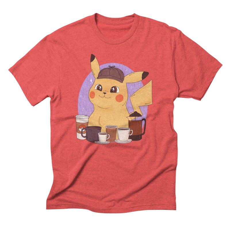 Detective Pikachu Men's Triblend T-Shirt by ArtbyMoga Apparel Shop
