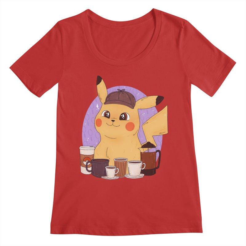 Detective Pikachu Women's Regular Scoop Neck by ArtbyMoga Apparel Shop