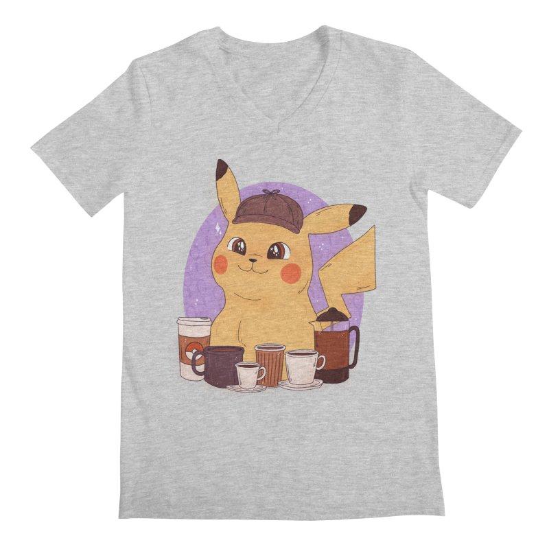Detective Pikachu Men's Regular V-Neck by ArtbyMoga Apparel Shop