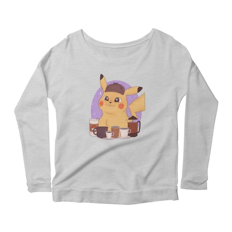 Detective Pikachu Women's Scoop Neck Longsleeve T-Shirt by ArtbyMoga Apparel Shop