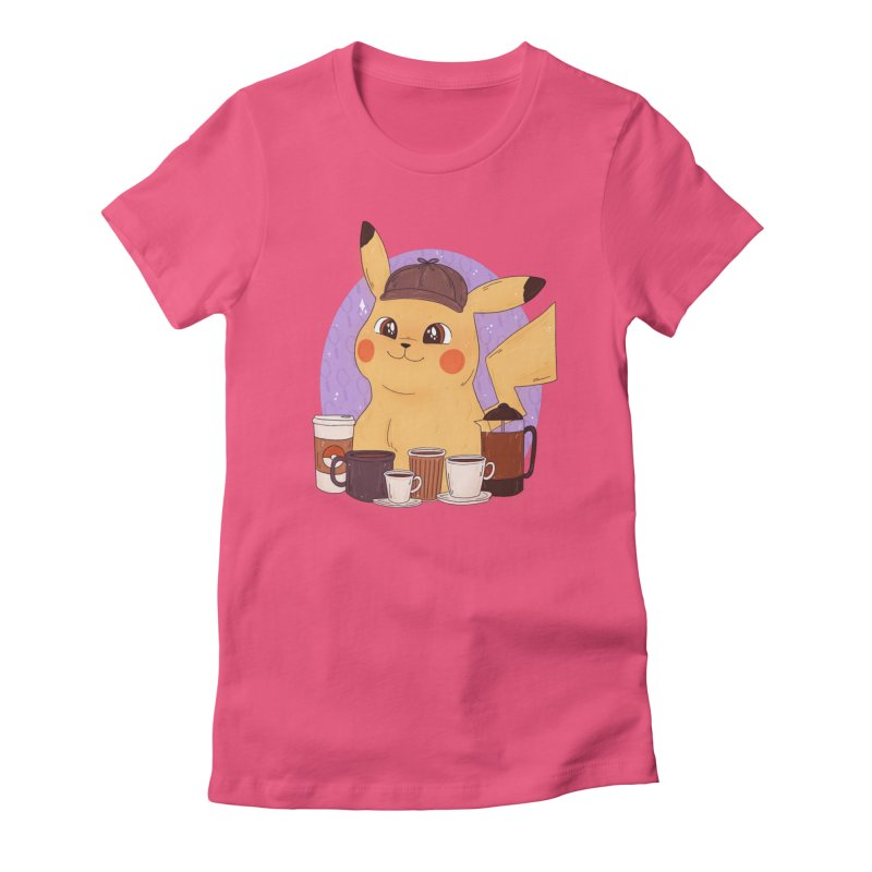 Detective Pikachu Women's Fitted T-Shirt by ArtbyMoga Apparel Shop