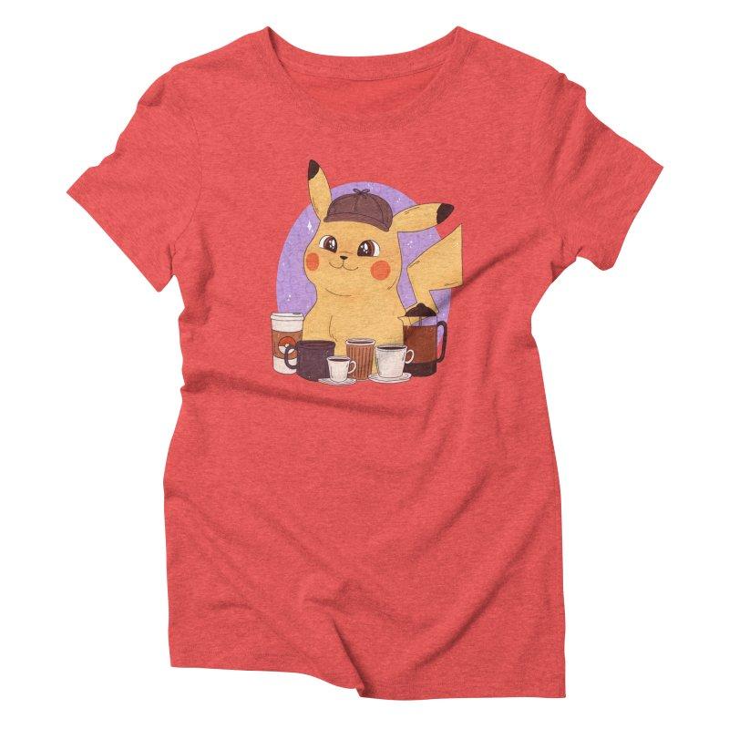 Detective Pikachu Women's Triblend T-Shirt by ArtbyMoga Apparel Shop