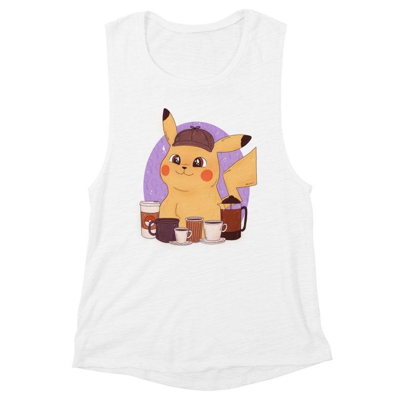 Detective Pikachu Women's Muscle Tank by ArtbyMoga Apparel Shop
