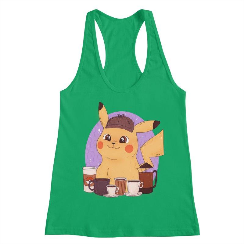 Detective Pikachu Women's Tank by ArtbyMoga Apparel Shop