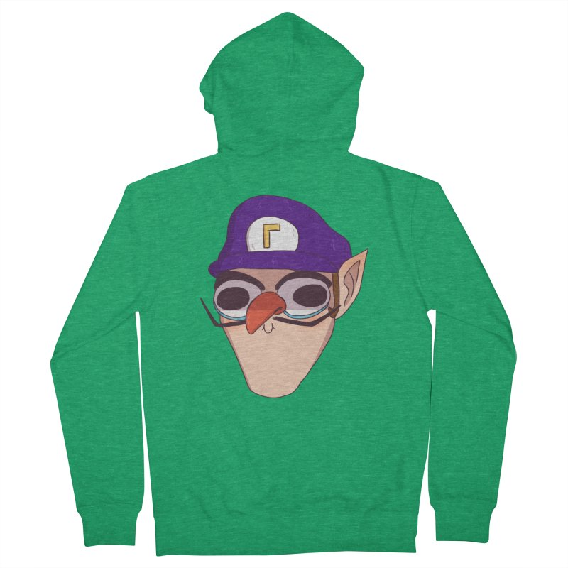 WAH! Men's French Terry Zip-Up Hoody by ArtbyMoga Apparel Shop