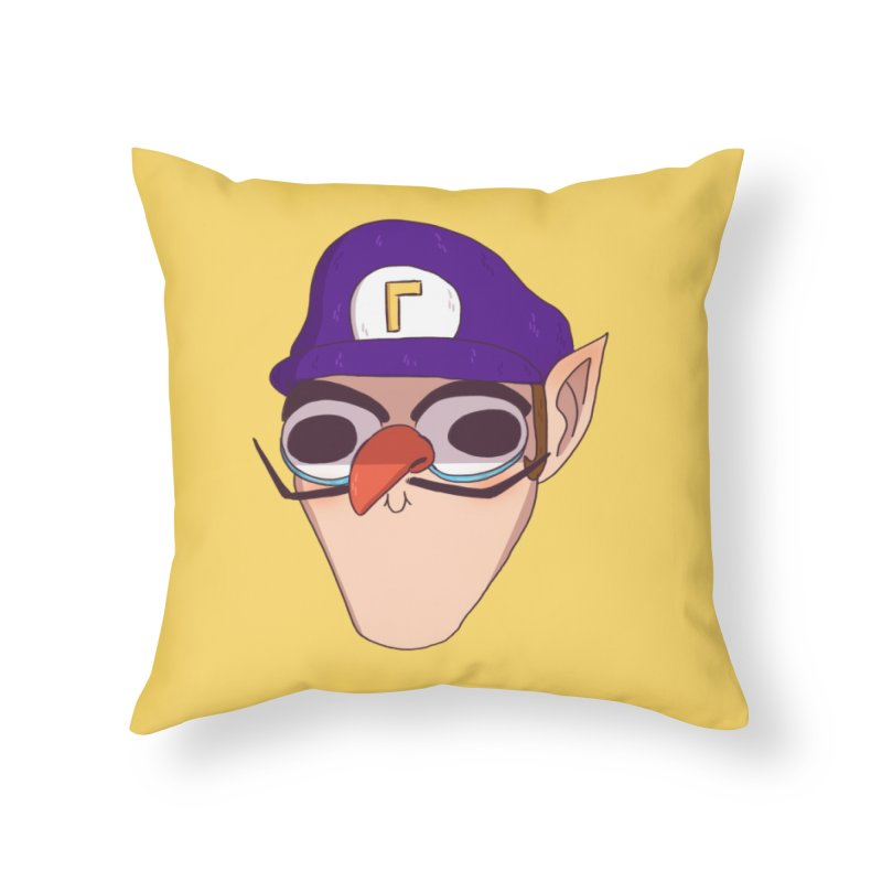 WAH! Home Throw Pillow by ArtbyMoga Apparel Shop