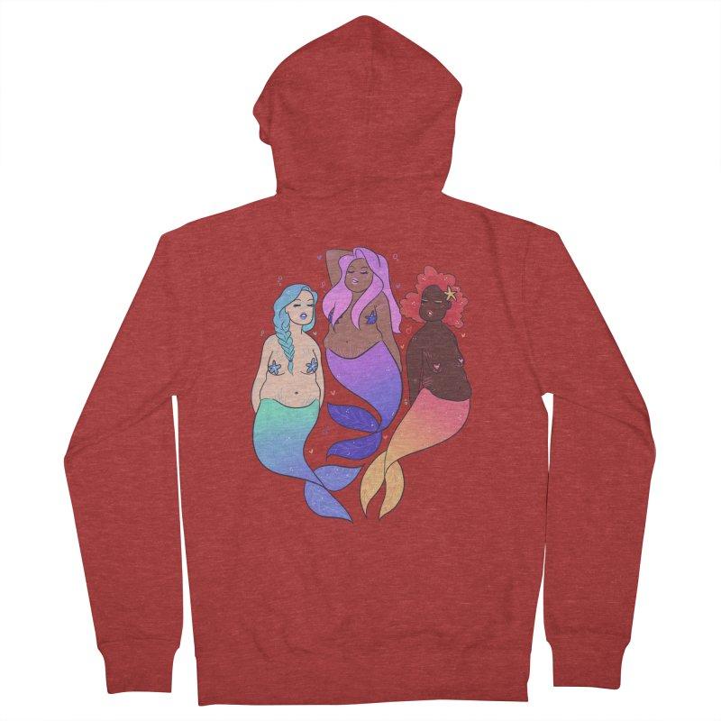 BodyPosi Mermaids Women's French Terry Zip-Up Hoody by ArtbyMoga Apparel Shop