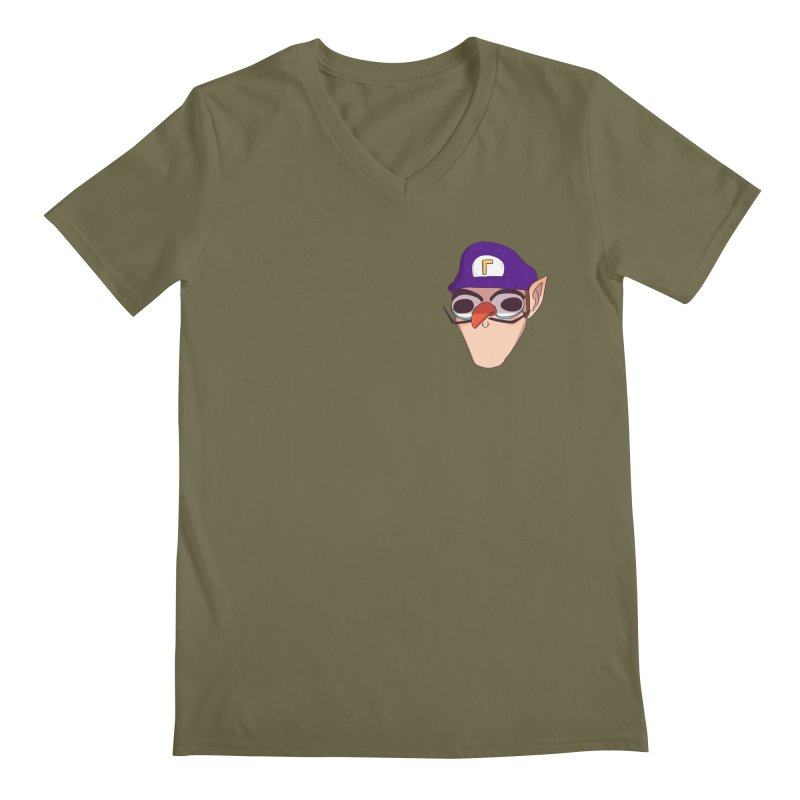 WAH! Pocket Sized Men's V-Neck by ArtbyMoga Apparel Shop
