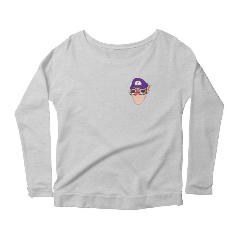 WAH! Pocket Sized Women's Scoop Neck Longsleeve T-Shirt by ArtbyMoga Apparel Shop