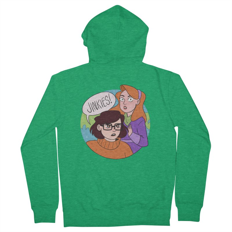 Jinkies! Men's French Terry Zip-Up Hoody by ArtbyMoga Apparel Shop