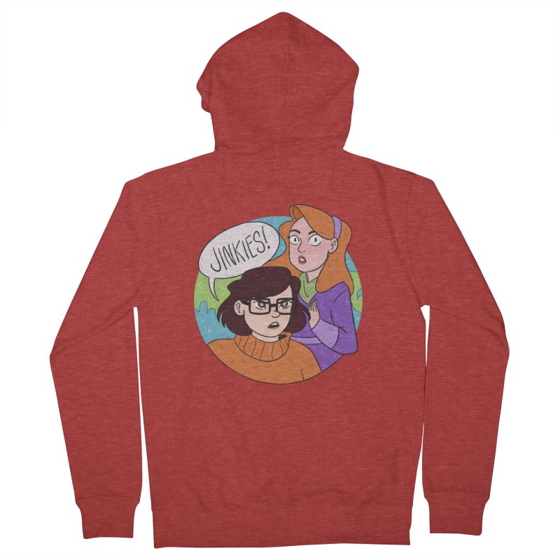 Jinkies! Men's Zip-Up Hoody by ArtbyMoga Apparel Shop
