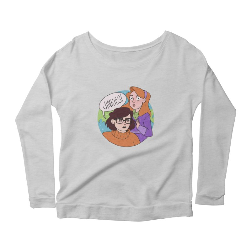 Jinkies! Women's Scoop Neck Longsleeve T-Shirt by ArtbyMoga Apparel Shop