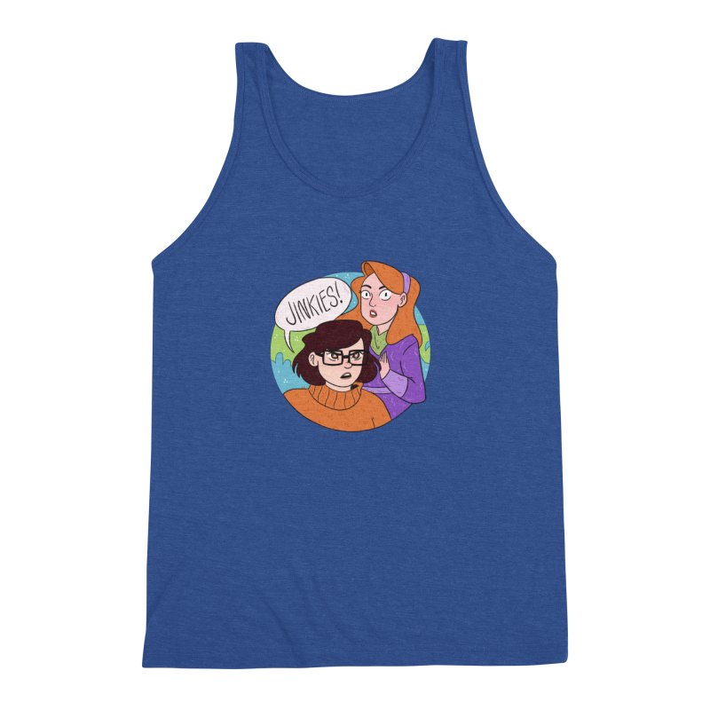 Jinkies! Men's Triblend Tank by ArtbyMoga Apparel Shop