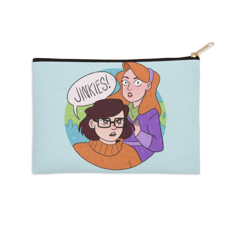 Jinkies! Accessories Zip Pouch by ArtbyMoga Apparel Shop