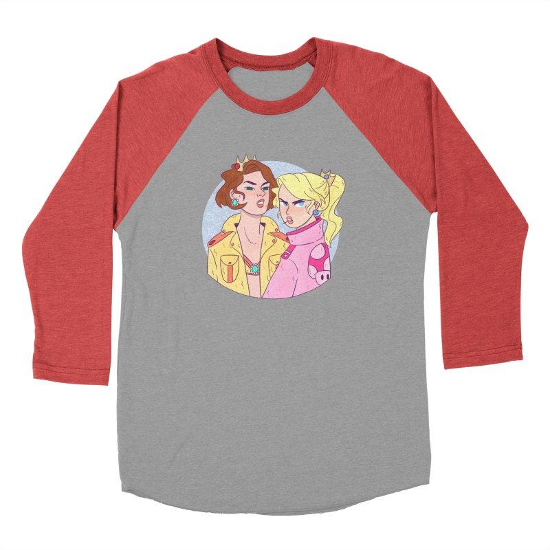 Peach and Daisy Men's Baseball Triblend Longsleeve T-Shirt by ArtbyMoga Apparel Shop