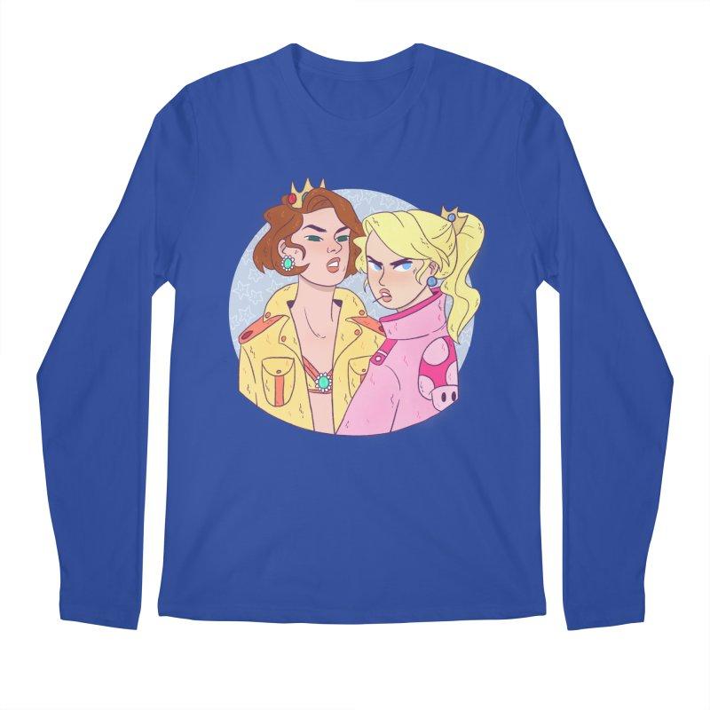 Peach and Daisy Men's Regular Longsleeve T-Shirt by ArtbyMoga Apparel Shop
