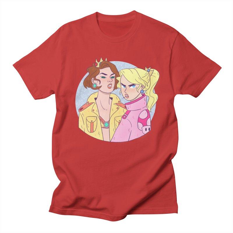 Peach and Daisy Men's T-Shirt by ArtbyMoga Apparel Shop